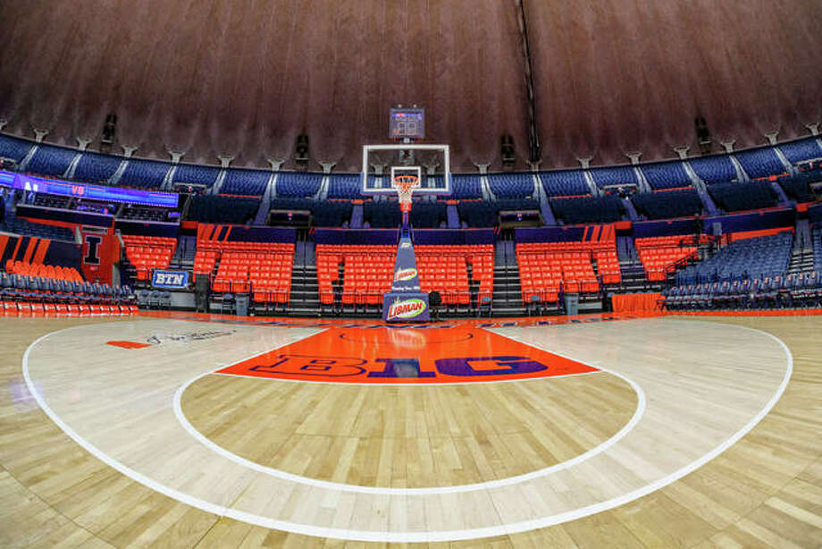 The State Farm Center on the campus of the University of Illinois will be the new home for the boys basketball state tournament. Photo: Craig Pessman|Illinois Athletics
