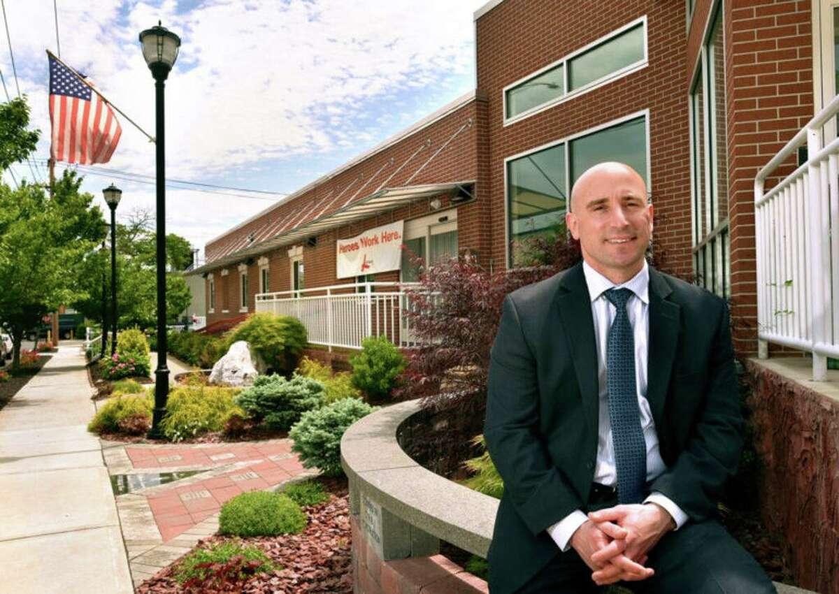 Leeway Inc. Executive Director Jay Katzin front of New Haven facility.