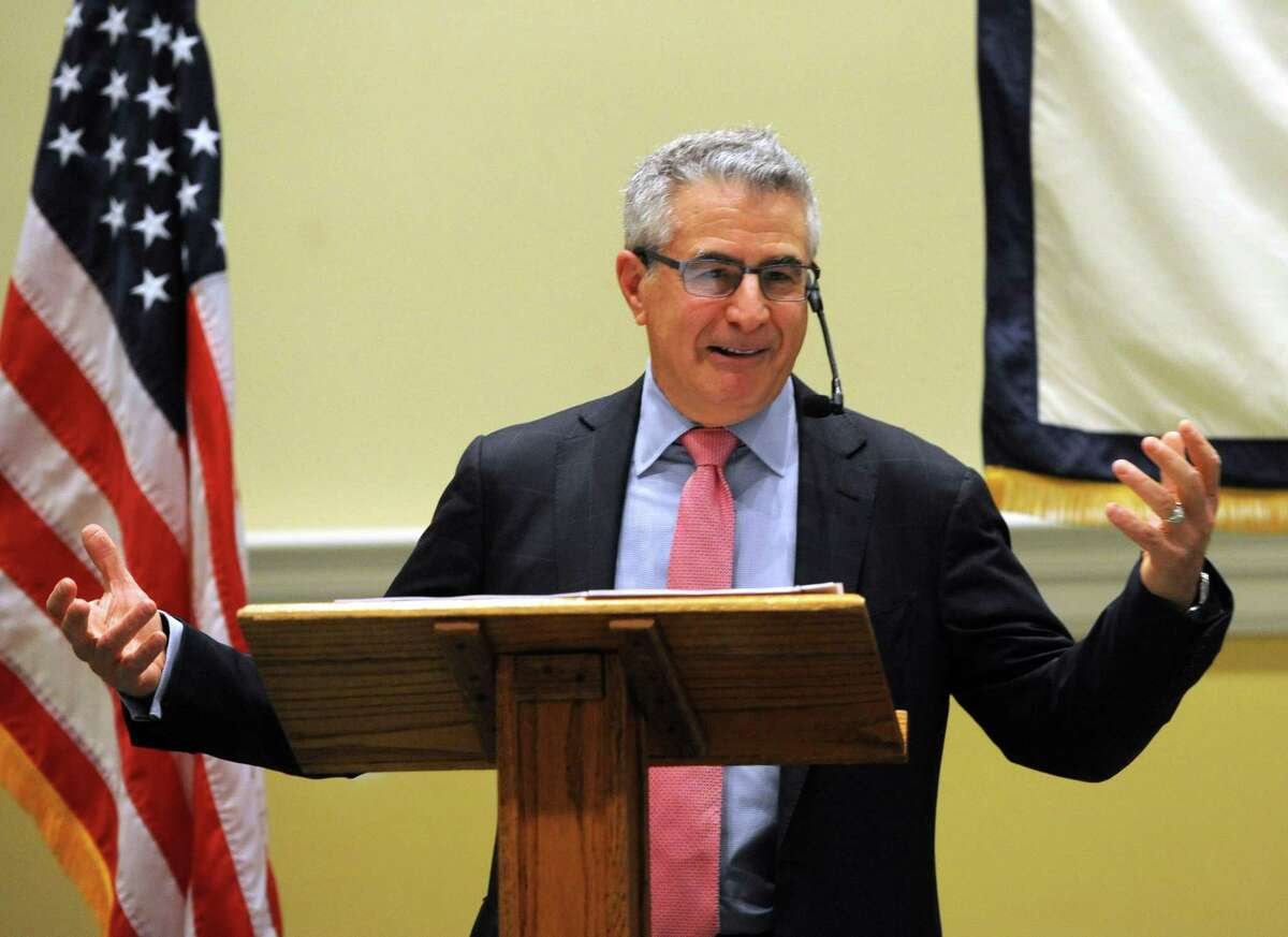 Larry Kantor, a veteran of the financial services industry, spoke to the Greenwich Retired Men's Association in 2018. He will be back for a fifth time on Wednesday and the meeting will be broadcast via Zoom.
