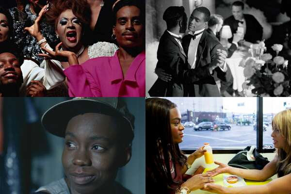 'Paris is Burning,' top left clockwise, 'Looking for Langston,' 'Tangerine' and 'Pariah.'