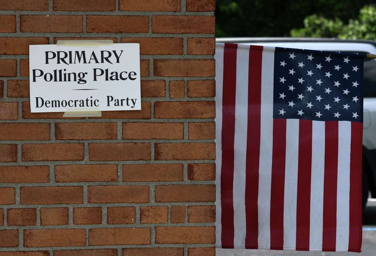 Early voting polling sites are open for the upcoming 2020 New York primary election on Monday, June 15, 2020, at the Bethlehem Lutheran Church polling site on Elm Avenue in Bethlehem, N.Y. Early voting began Saturday and runs through Sunday, June 21, ahead of the June 23 Election Day. State Democrats can choose a candidate in their presidential primary. (Will Waldron/Times Union)