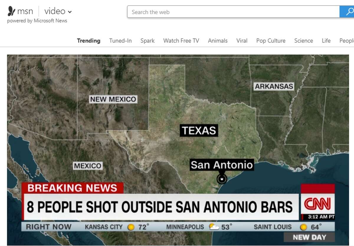CNN's coverage of the Rebar shooting that happened Friday night included a map of Texas to give viewers an idea of which part of the state they were referring to, but it may have led them in the wrong direction. San Antonio was placed on the coast, closer to where Corpus Christi is located.