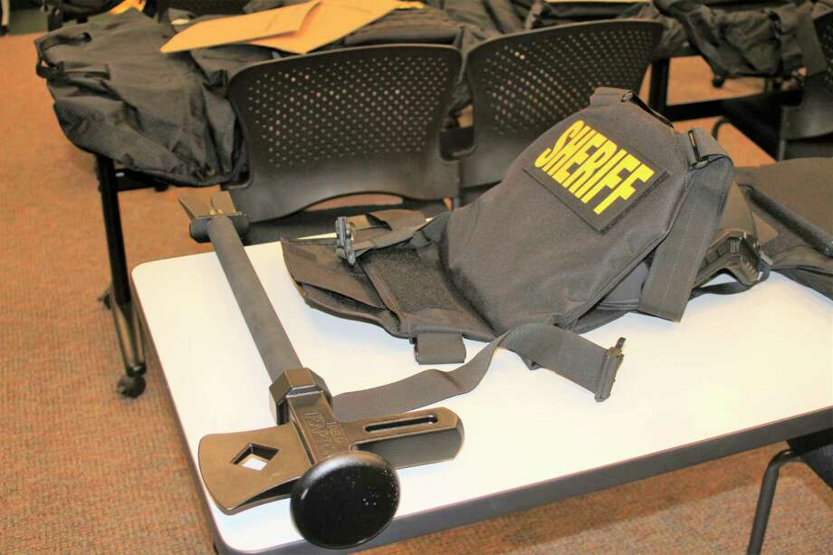 The Manistee City Police and Manistee County Sheriff's Office were awarded funds to purchase level III ballistic vests and helmets, along with funds to receive Delia Tactical Raptor Tools several years ago. (File photo)