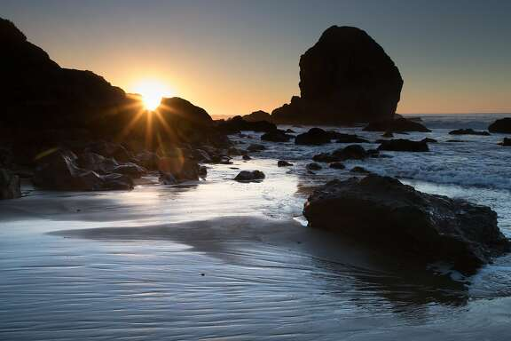 Mile Rock Beach at Lands End Point on Thursday, Dec. 6, 2018, in San Francisco, Calif.