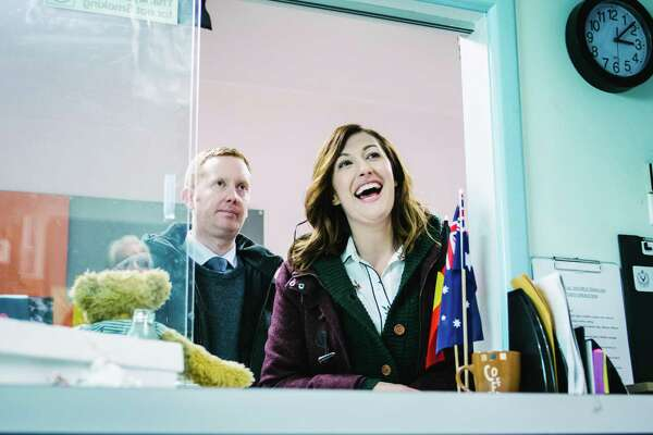 Rosehaven stars Celia Pacquola as Emma and Luke McGregor as Daniel, two best friends living in a small Tasmanian town