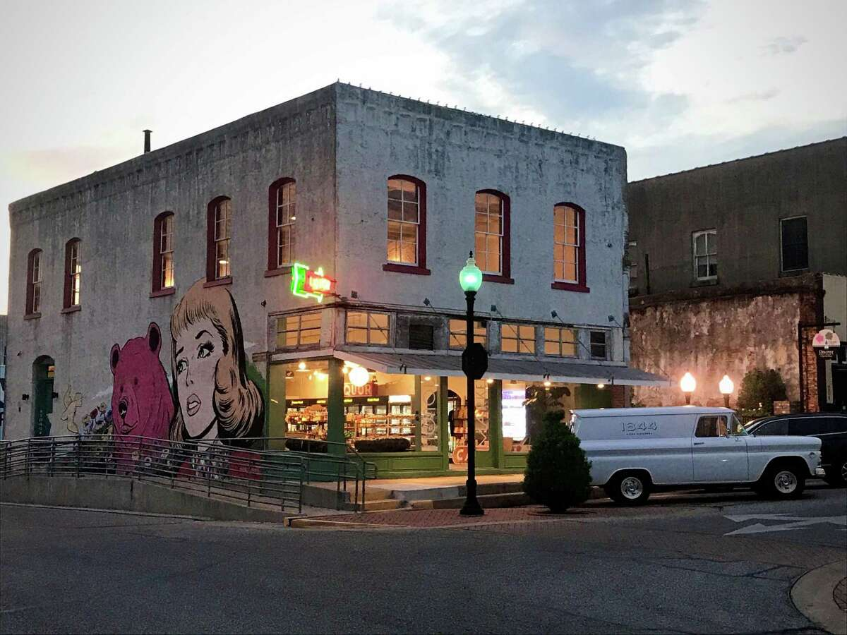 Brenham's new 1844 Liquor Market is in a recently restored vintage building next to tiny Toubin Park, where visitors can peer into a historical cistern.