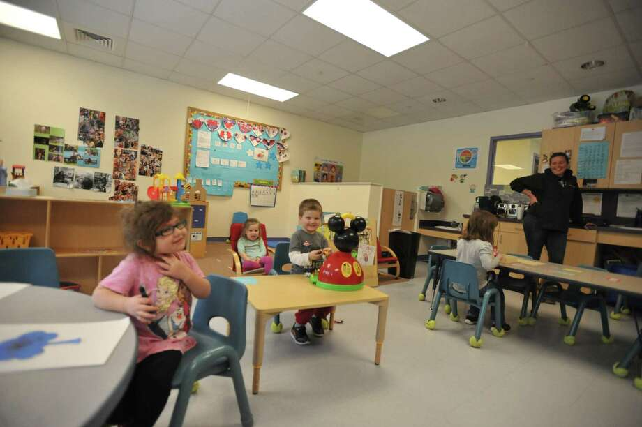 A classroom at Brooker Memorial in Torrington may run a little differently this summer, as day care centers prepare to open in the state's phase two reopening plan. Photo: Ben Lambert / Hearst Connecticut Media /