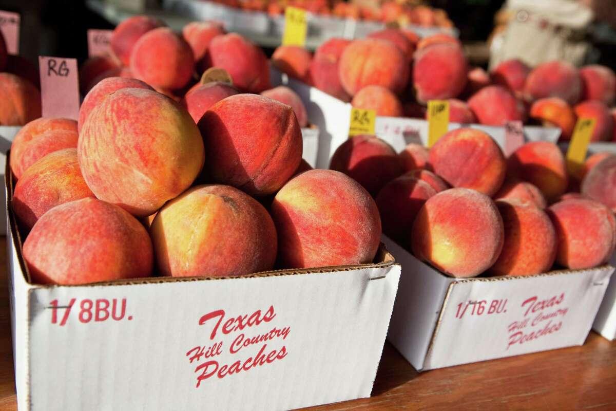 Peaches are ripe in Fredericksburg.