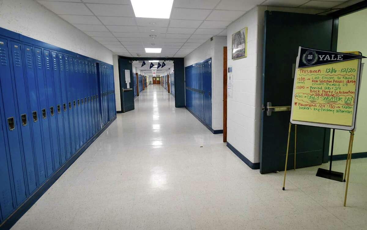 Ponus Ridge Middle School's remodeled second floor in Norwalk.