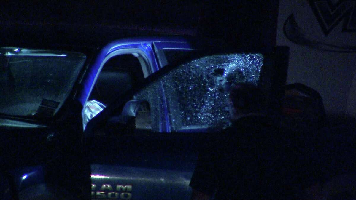 Police are searching for a suspect after a man was shot dead while driving on the North Side Tuesday morning.