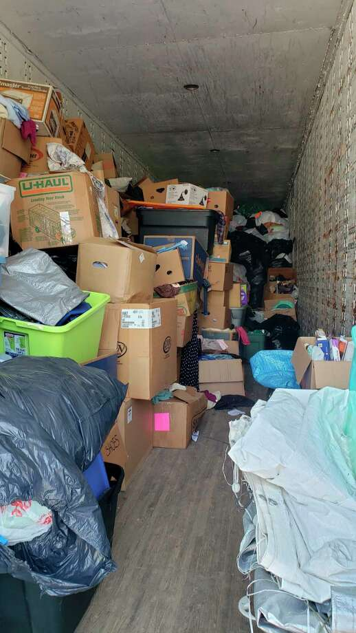 Items sit in a semi truck trailer at Northern Lanes in Sanford. (Photo provided)