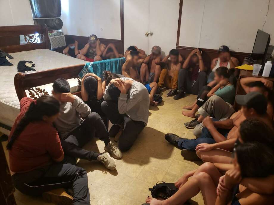 Federal and local authorities busted a stash house in the Cheyenne neighborhood, where they discovered 33 immigrants who had crossed the border illegally. Photo: Courtesy Photo /U.S. Border Patrol