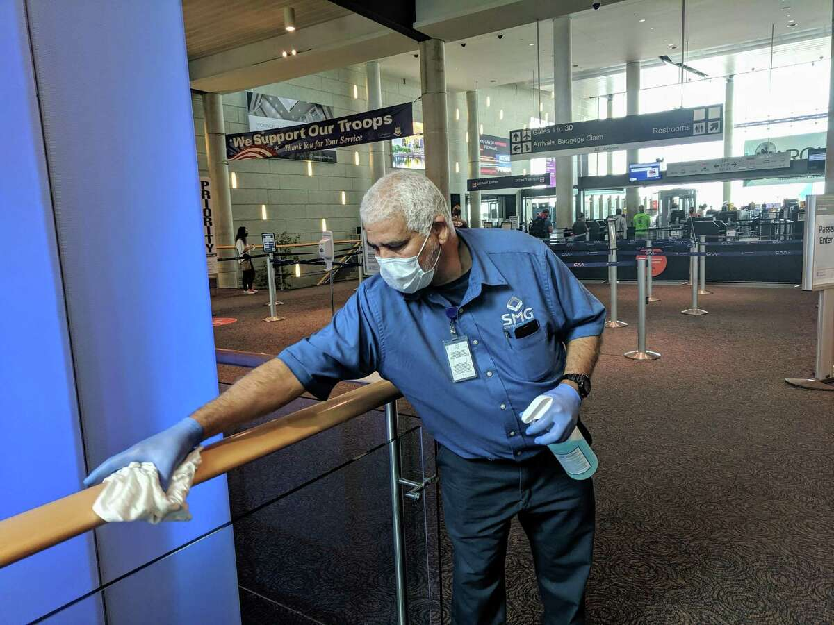 With passengers gradually returning to Bradley International Airport, there are new measures in place to keep travelers safe in the age of the coronavirus pandemic. The airport has increased the frequency of cleaning and sanitization efforts in all high-traffic and high-touchpoint areas.