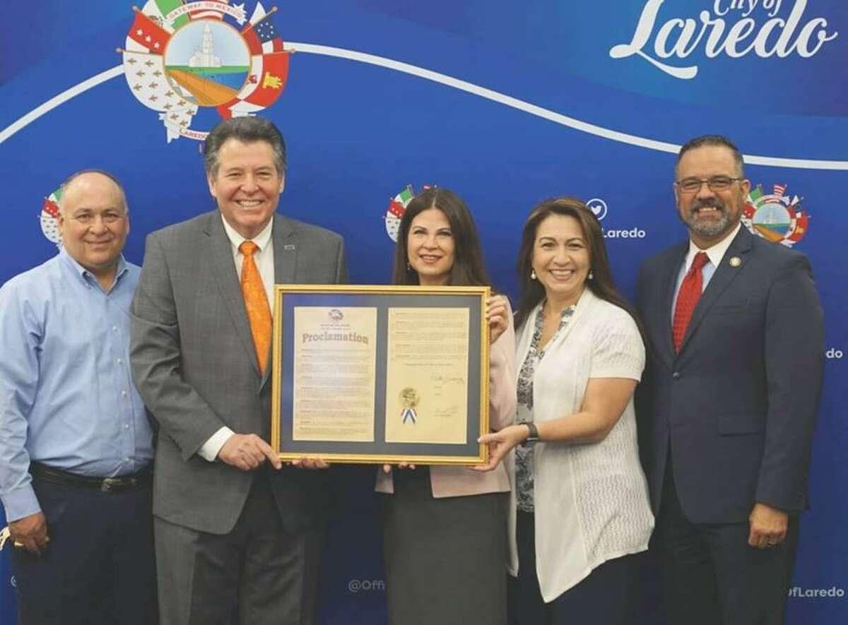 A proclamation was issued Monday to honor retired Laredo Economic Development Corporation CEO Olivia Varela.