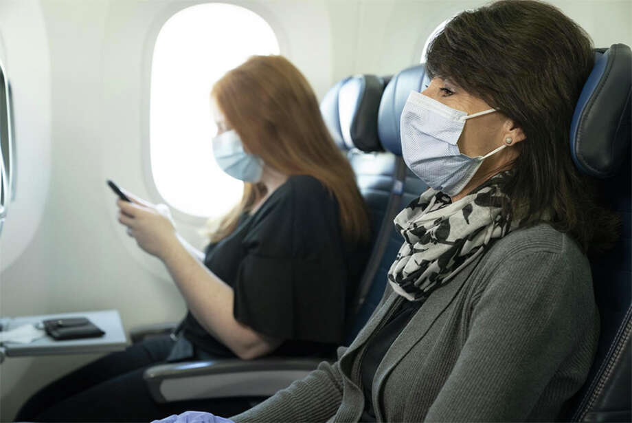 United said customers who won't wear a mask in-flight could be barred from future travel- but they will not be removed from a flight for non-compliance. Photo: United