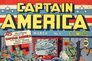 This illustration provided by Marvel Comics shows the cover of the first issue of Captain America, created in 1941 to incarnate patriotic feeling during World War II.