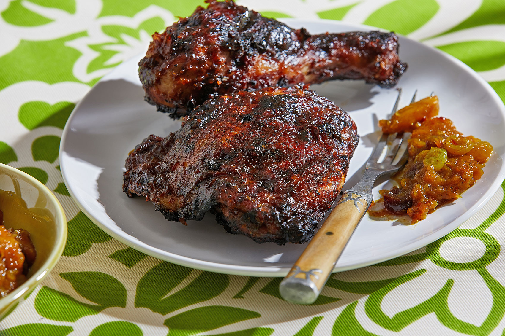 Vibrant marinade makes this jerk chicken stand out