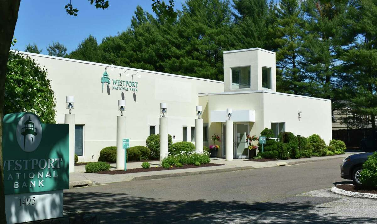 The Post Road East headquarters of Westport National Bank, whose parent company Connecticut Community Bank was among those to eke out a small profit in the first quarter of 2020. A third of banks statewide incurring losses as the coronavirus pandemic shut down businesses.