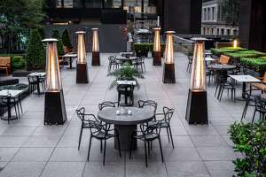 The Vault Garden at 555 California St. debuts June 18 in San Francisco as an outdoor only restaurant. The concept, borne out of the coronavirus pandemic, is designed specifically with social distancing in mind.