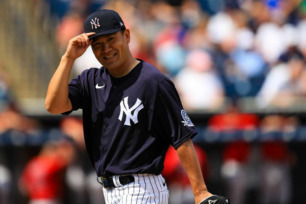 Masahiro Tanaka #19 of the New York Yankees looks on during a spring training game against the Boston Red Sox at Steinbrenner Field on March 3, 2020 in Tampa, Florida. What about the playoffs? The playoffs would be expanded from 10 teams to 16 teams - eight from each league.