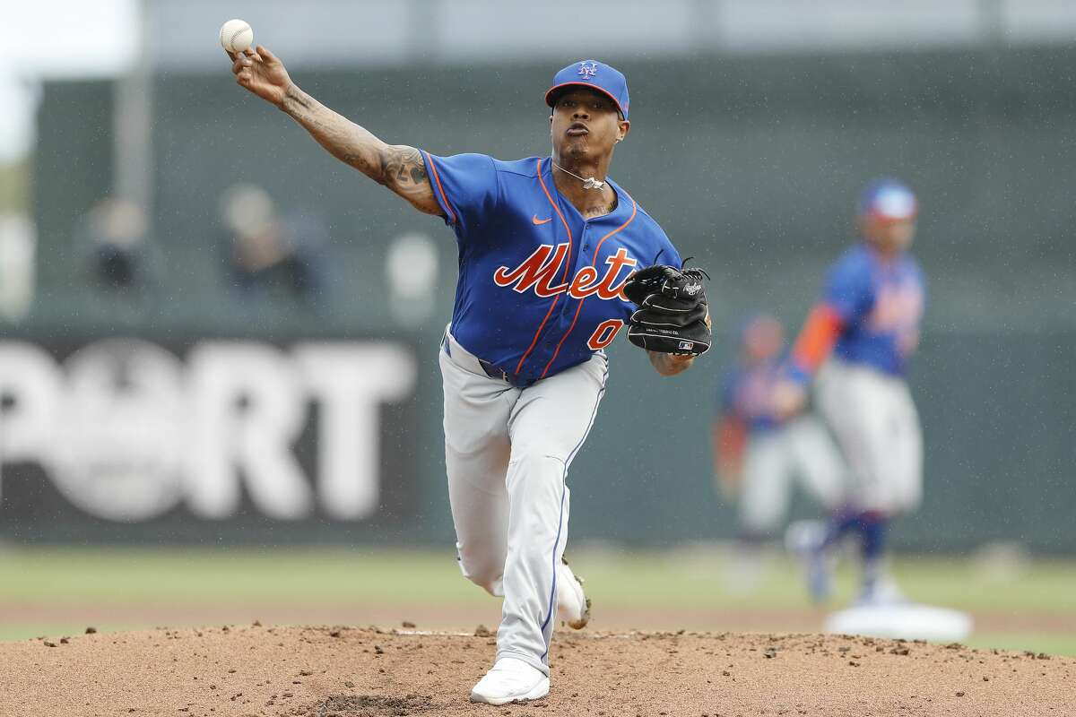 Marcus Stroman #0 of the New York Mets warms up in the second inning of a Grapefruit League spring training game at Roger Dean Stadium on February 22, 2020 in Jupiter, Florida. Other concessions? The players' union will have to waive its right to file a grievance against the owners. Matt Young is a sports web producer for the Houston Chronicle.