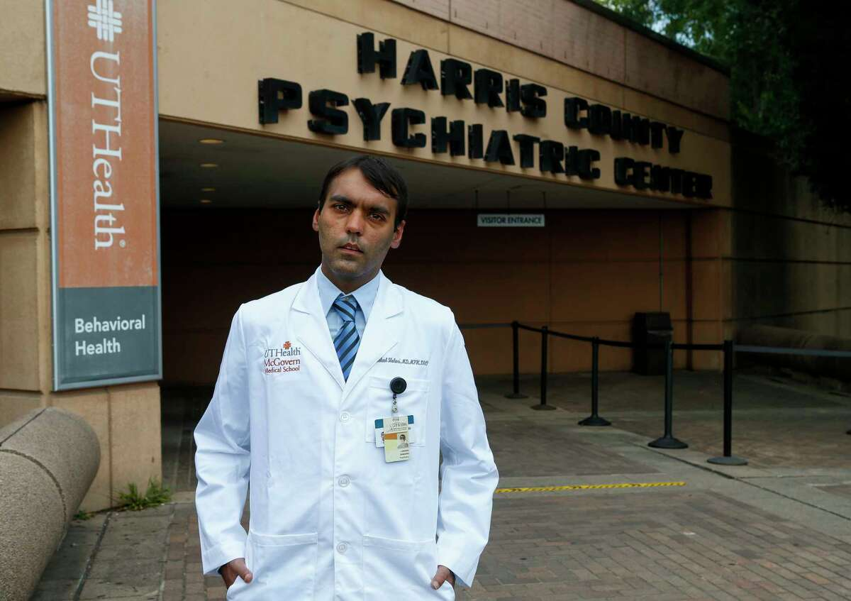 Dr. Lokesh Shahani, psychiatrist at McGovern Medical School at UTHealth, poses for a photograph Tuesday, June 16, 2020, in Houston.
