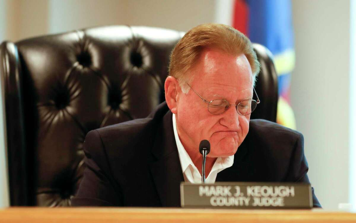 County Judge Mark Keough continued his positive outlook on the current COVID-19 pandemic as the number of patients hospitalized with the new coronavirus remained at an all time low of just seven Tuesday.
