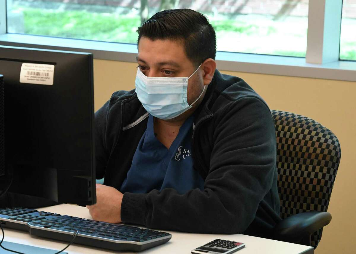 The COVID-19 pandemic is changing how educators interact with students, and for students enrolled in the school's nursing program at San Jacinto College, the crisis is providing a virtual lesson in what it means to participate in the community as a healthcare worker.