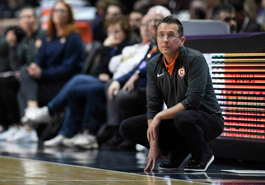Connecticut Sun head coach Curt Miller during the first half of a preseason WNBA game last year in Uncasville. Photo: Jessica Hill / AP / Copyright 2019 The Associated Press. All rights reserved