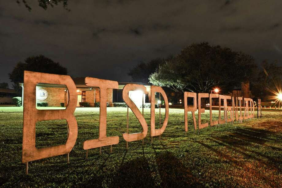 A thirty second exposure of the Beaumont ISD building  located at 3395 Harrison Avenue after dark on December 5, 2012. Photo taken: Randy Edwards/The Enterprise