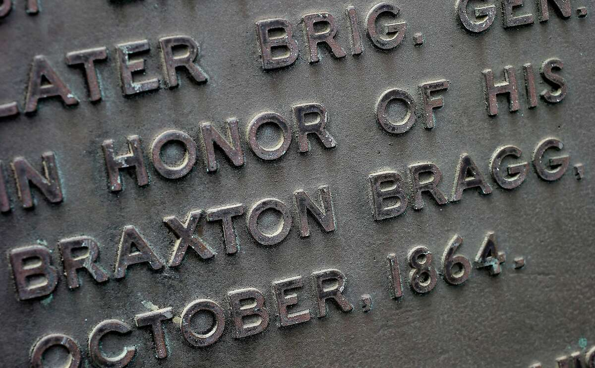 A historical market on Main Street mentions Braxton Bragg but there is very little about him in the public museum nearby. There is little public support for a name change for Fort Bragg, California after various African American groups objected to the naming after a Confederate army general, Braxton Bragg.