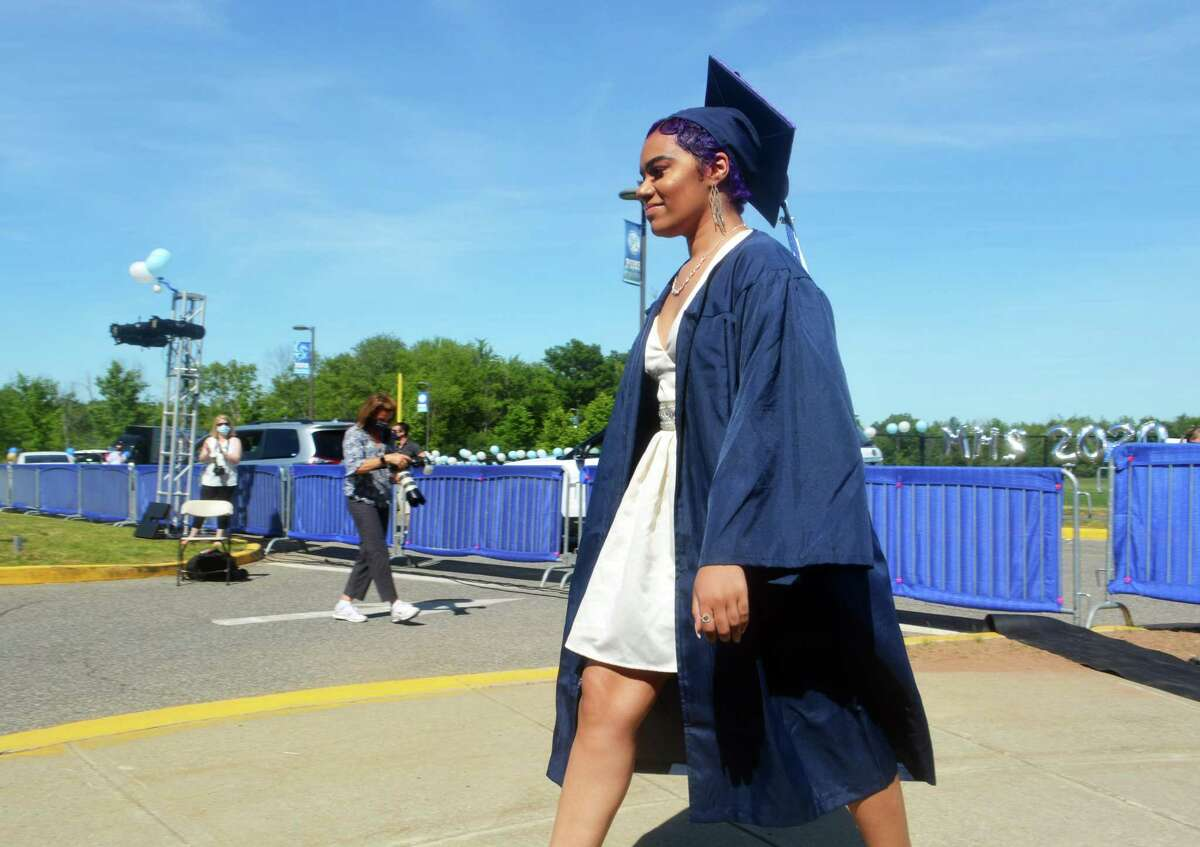 The Middletown High School class of 2020 graduated 347 members Tuesday afternoon under sunny skies on La Rosa Lane.
