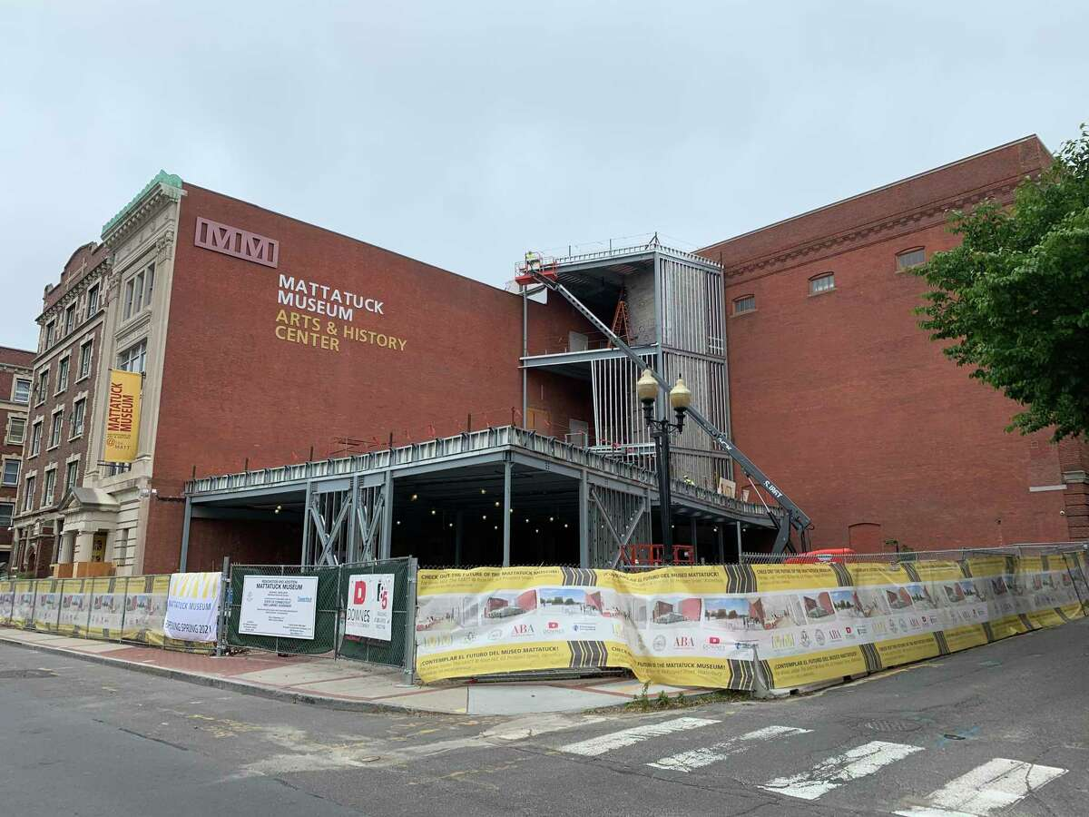 The West Main Street, Waterbury, site of the Mattatuck Museum is under construction until November. The museum will relocate there early in 2021, says its director.