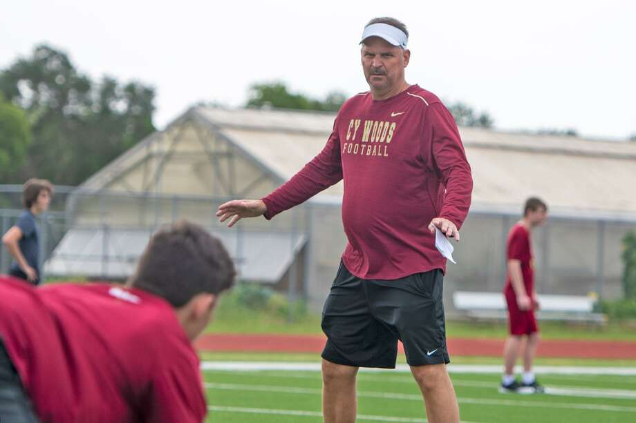 Cy Woods football returned to the field, June 8, when high schools were allowed to begin strength and conditioning camp with safety measures in place in light of the COVID-19 pandemic. Photo: Photos Courtesy Of CFISD
