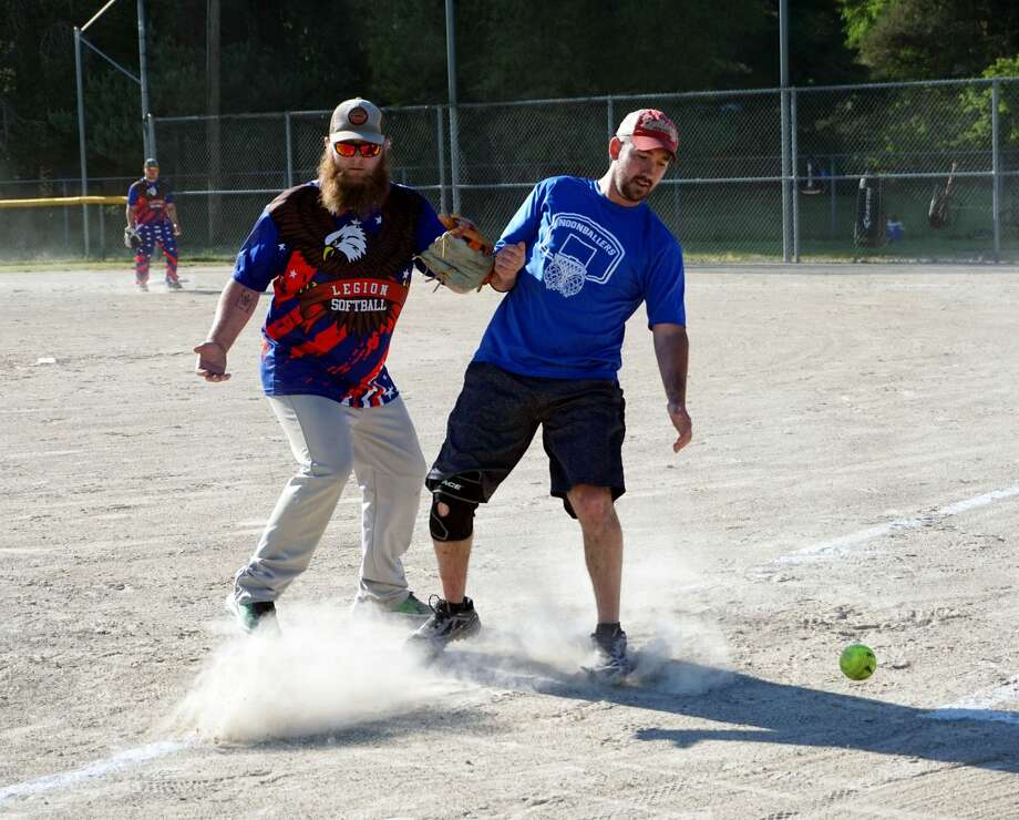 After much delay and speculation, various slow-pitch softball teams from Big Rapids and the surrounding areas took to the diamond for the very first time to at last open the 2020 season. Photo: Joe Judd