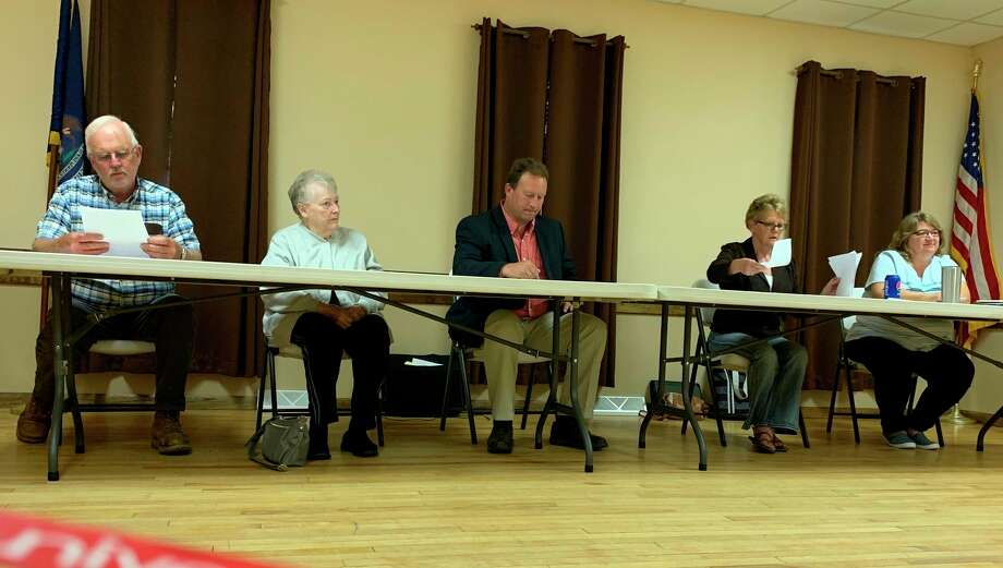 Evart Township Board of Trustees continue to discuss the annexation of township property by the city of Evart for the purpose of expanding a marijuana grow facility. (Herald Review file photo)