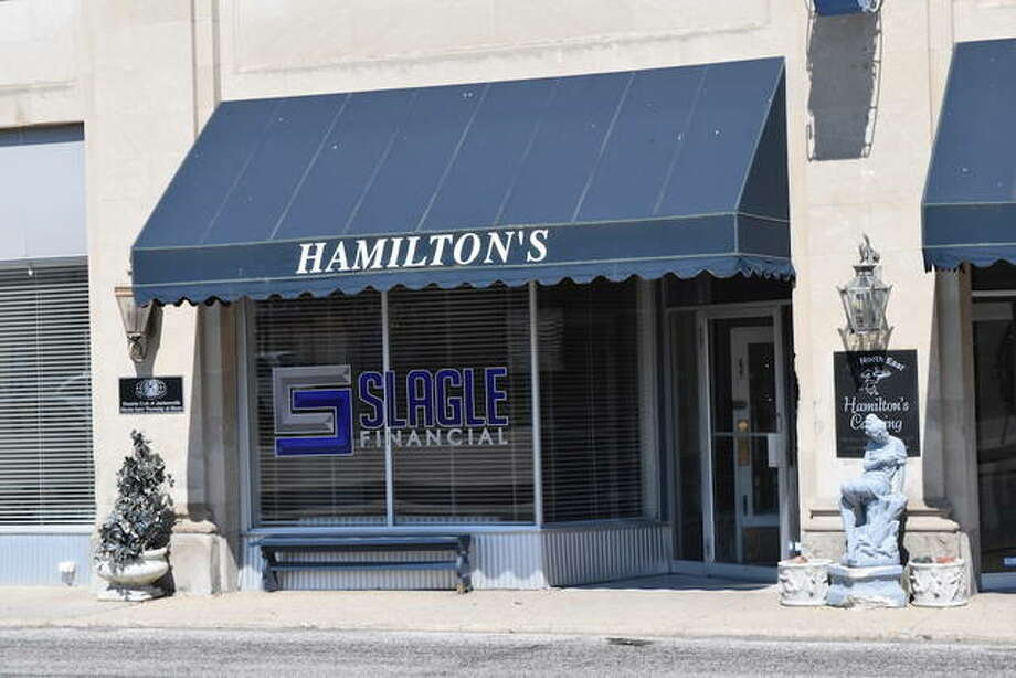 The Hamilton's Catering building in downtown Jacksonville is for sale. Photo: Rochelle Eiselt | Journal-Courier