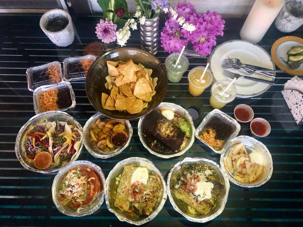 A spread of takeout at La Mision in Hudson.