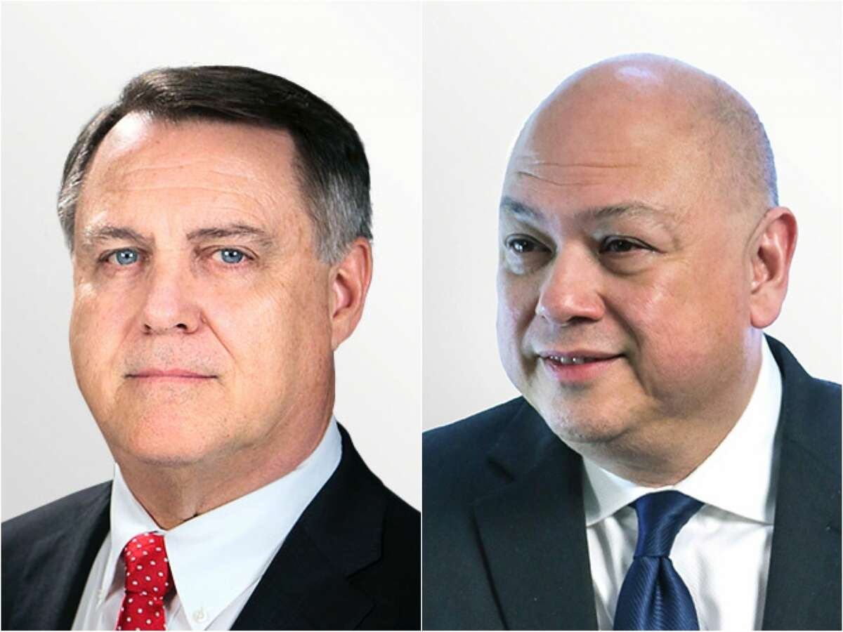 Weatherford International Executive Vice President Karl Blanchard (left) has been appointed as interim CEO of the oil field service company. Weatherford's executive vice president and chief financial officer Christian Garcia (right) plans to leave the after reporting the company's second quarter results in August.