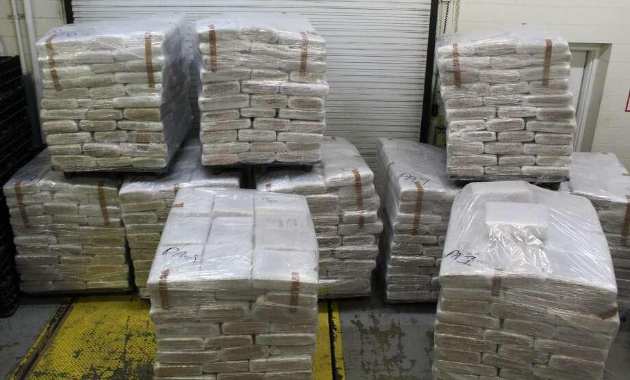 U.S. Customs and Border Protection officers said they seized $2.5 million in marijuana at the World Trade Bridge. Photo: Courtesy Photo /U.S. Customs And Border Protection