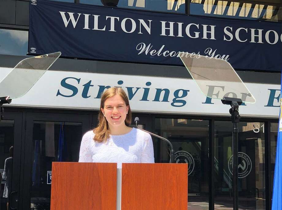 Emma Babashak, co-valedictorian of Wilton High School's Class of 2020.