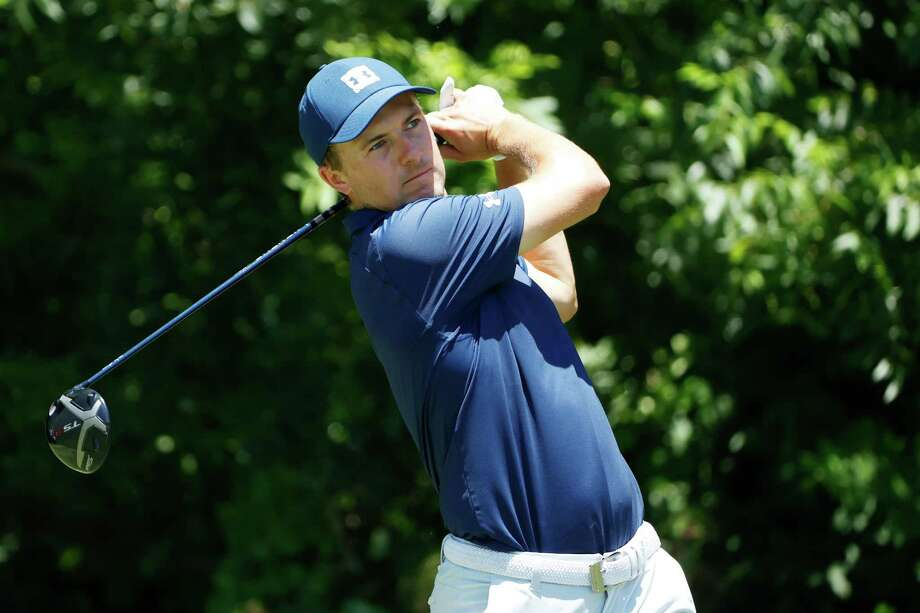 Jordan Spieth plays his shot from the sixth tee during the final round of the Charles Schwab Challenge on Sunday in Fort Worth, Texas. The 2017 Travelers champion, Spieth committed Wednesday to play this year's event. Photo: Tom Pennington / Getty Images / 2020 Getty Images