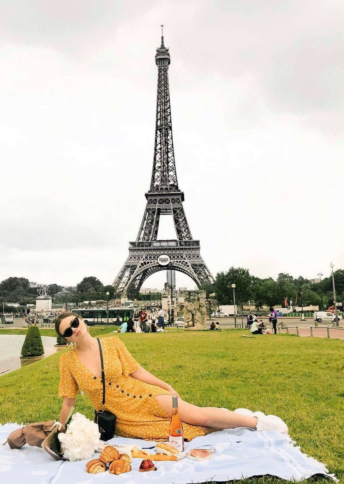 Inspired by this picnic right next to the Eiffel Tower, Suarez first got her inspiration to launch