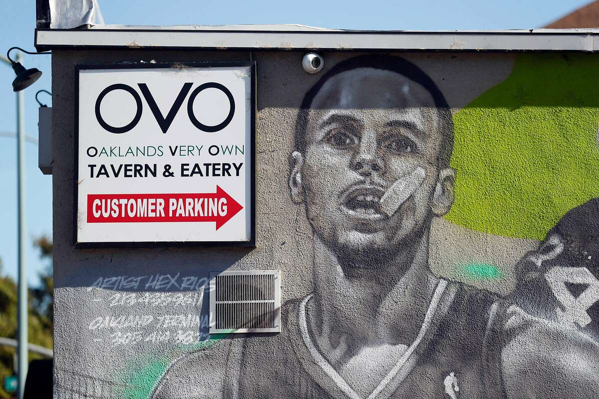 Stephen Curry on mural at OVO- Oakland's Very Own at 5319 Martin Luther King Jr Way in Oakland, Calif. on Tuesday, July 10, 2018.