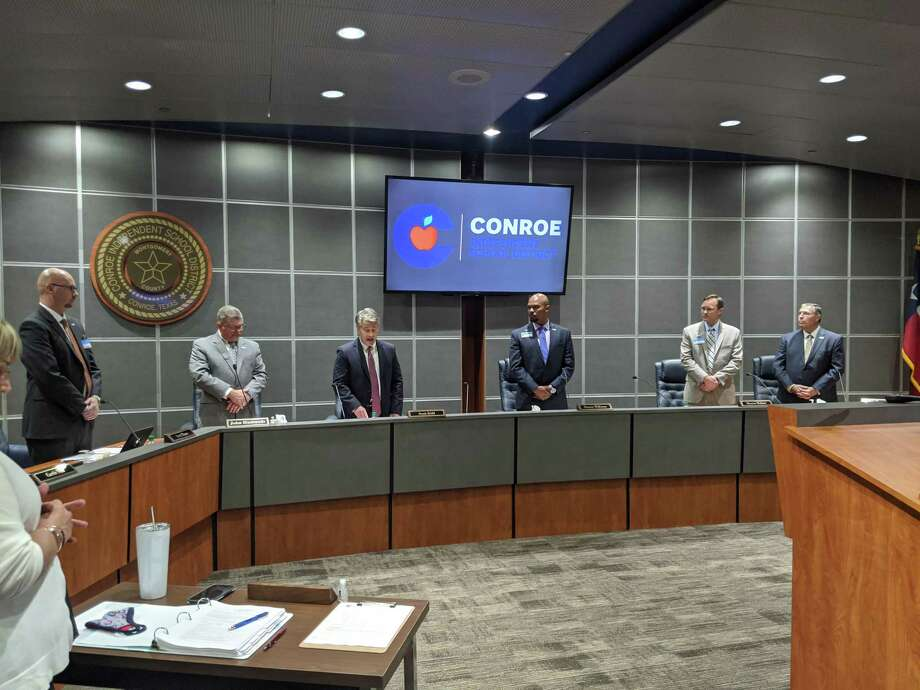 In its first meeting back in the board room for several months due to COVID-19, the board of trustees read a prepared statement responding to the growing movement across the country against police violence and systemic racism. Photo: Jamie Swinnerton