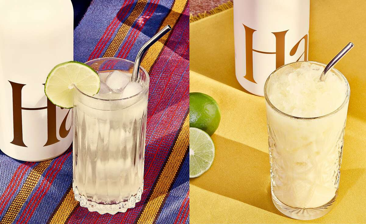 Two of the aperitifs from Haus' Restaurant Project were made in collaboration with Rich Table (left) and Mister Jiu's.