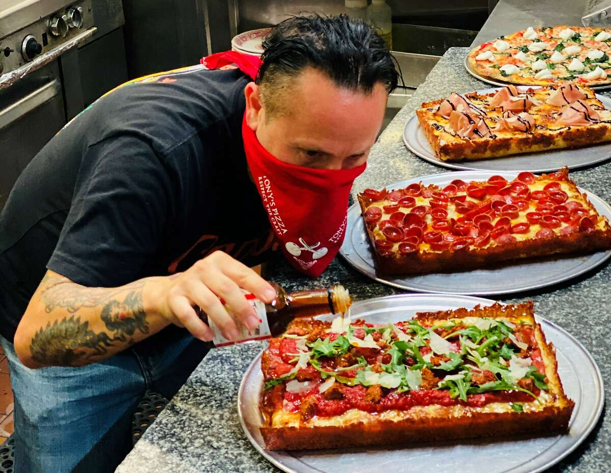 Capo's in North Beach is now featuring Detroit-style pizzas.