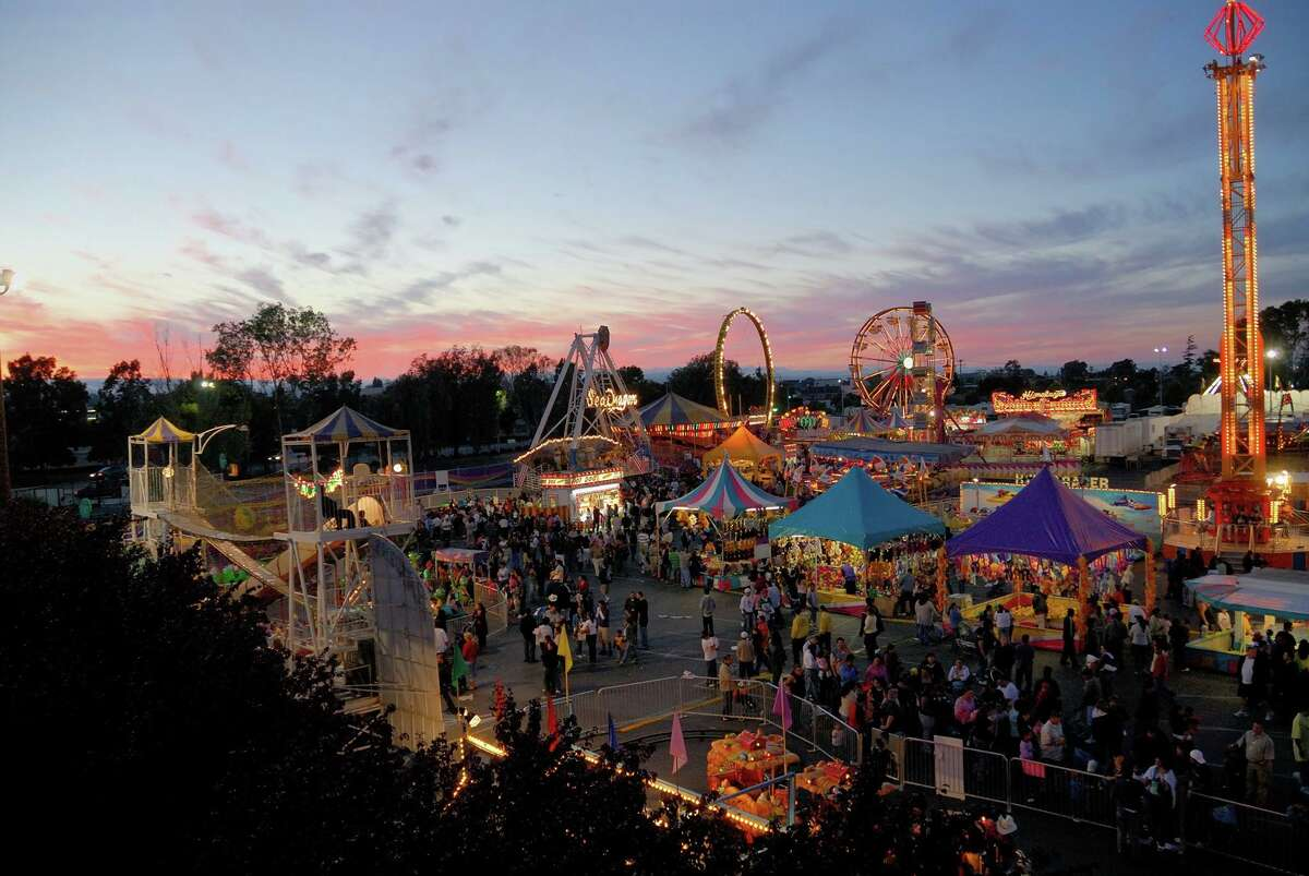 FILE - Atmosphere at the San Mateo County Fair. Though the fair was cancelled this year as a result of the pandemic, a drive-in movie theater will take its place.