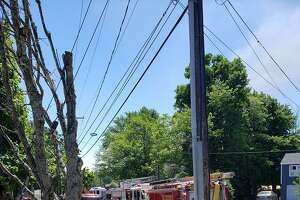 Units on scene for a house fire in the area of Torringford West Street and East Main Street in Torrington, Conn., on Wednesday, June 17, 2020, around 2:15 p.m.