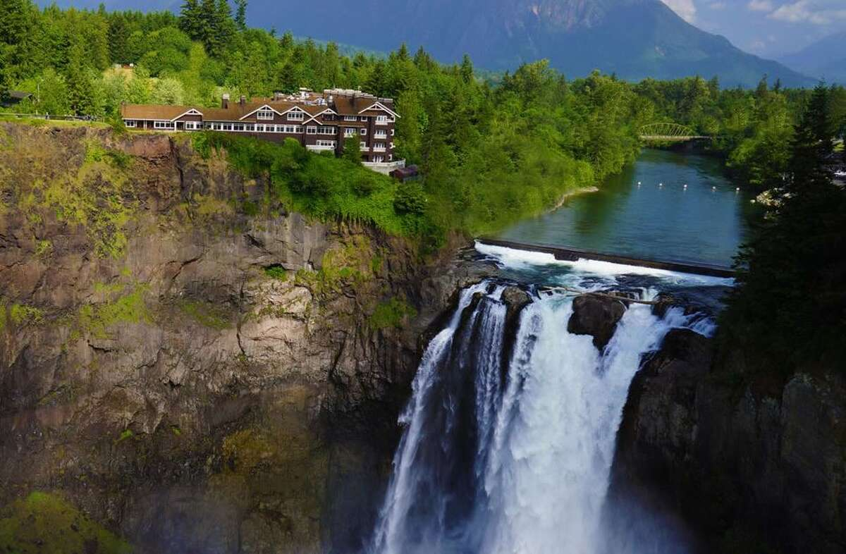 Wake up to the soothing sounds of a cascading waterfall at the Salish Lodge and Spalocated just 30 minutes east of Seattle. Overlooking Snoqualmie Falls and the sweeping river valley, the resort is home to a fine dining favorite that features high quality ingredients sourced from growers all over the Pacific Northwest. Classic Northwest dishes like pan seared salmon and Alaskan halibut feature just a touch honey from the lodge's own hive. Food isn't the only thing this nearby destination does well: get ready to seriously unwind from the stress of the city and pamper yourself with a massage or therapeutic soak from their award-winning spa. Organic and botanical skincare options are also available for facials to keep your skin looking radiant. Due to the COVID-19 pandemic, the spa is operating on a limited basis, so be sure to check before you book. But luckily, the redesigned guest rooms feature spa-like showers, soaking tubs and cozy fireplaces for maximum relaxation. Salish Lodge even offers a pillow menu featuring six different options, ensuring a good night's sleep during your staycation.